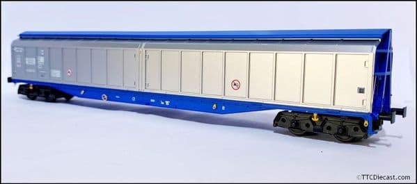 HELJAN 5026 Cargowaggon IWB Bogie Van Silver/Blue Unbranded, OO Gauge